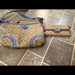 COACH crossbody purse and wallet